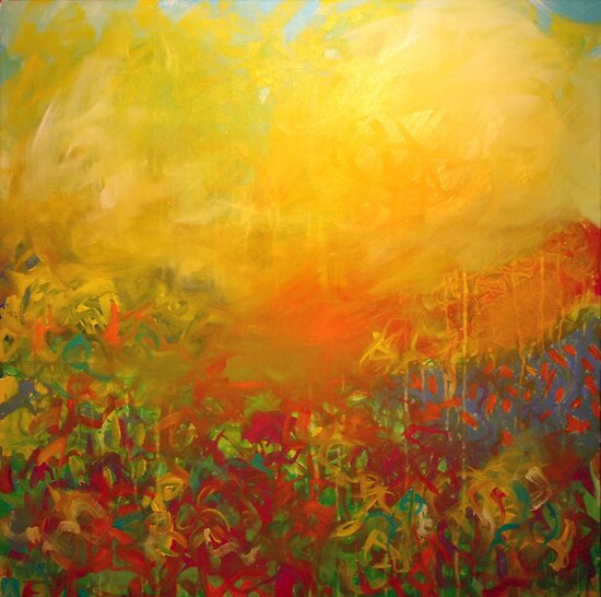 Dayspring. 30 x 30. Acrylic Painting. by csoccio100