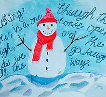 snowman  by Sarah -jane Pearce
