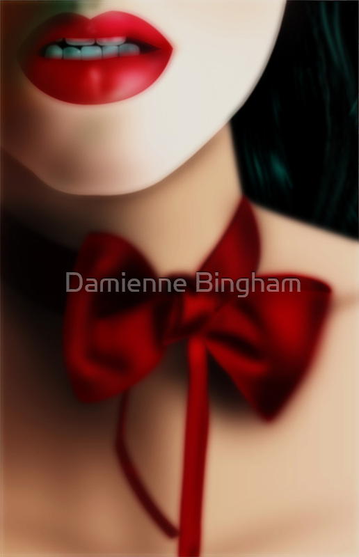 Dark Red Love-Knot by Damienne Bingham