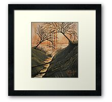 Brush Fire Brook Framed Print