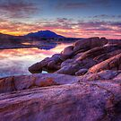 Dusk On The Rocks by Bob Larson