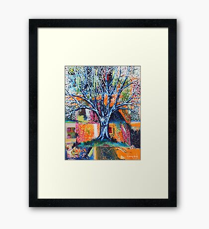 ''HERALD TO SPRING (BRADFORD PEAR TREE)'  Framed Print