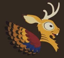 Silly beasty: Wolpertinger by Valériane Duvivier