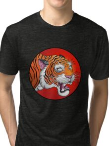 oriental tiger head Tri-blend T-Shirt