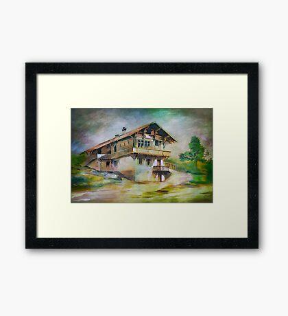 German cottage..... Framed Print