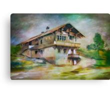 German cottage..... Canvas Print