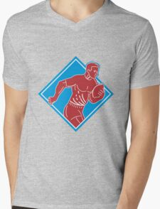 rugby player running with ball Mens V-Neck T-Shirt