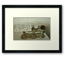 Vintage Kitchen Scales Framed Print