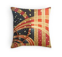 Stripes and Stars Throw Pillow