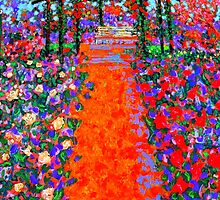 The Fauve Rose Garden by Richard  Tuvey