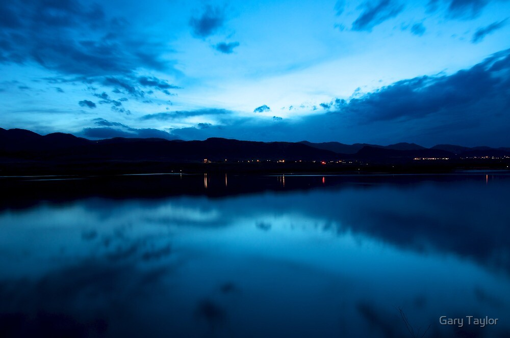 Blue Sunset by Gary Taylor