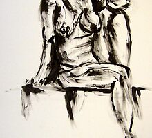 sitting nude by Andrew  Cain