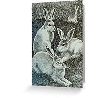 Four Bunnies Greeting Card