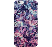 Teal, Pink, and Black Granite Marble Pattern iPhone Case/Skin