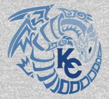 Blue Eyes White Dragon - Gradient Blue Kids Clothes