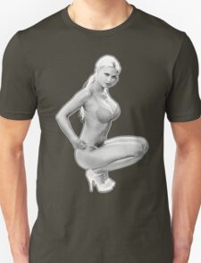 Black and White Kneeled T-Shirt