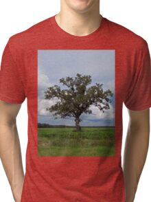 Single Tree In The Wide Open Fields Tri-blend T-Shirt