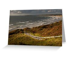 Rhossili bay south Wales Greeting Card