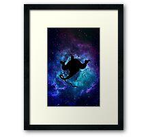 Aladdin Genie Galaxy Framed Print