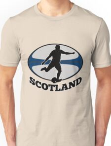 rugby player running kicking ball Unisex T-Shirt