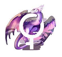 Demigirl Pride Dragon by kaenith