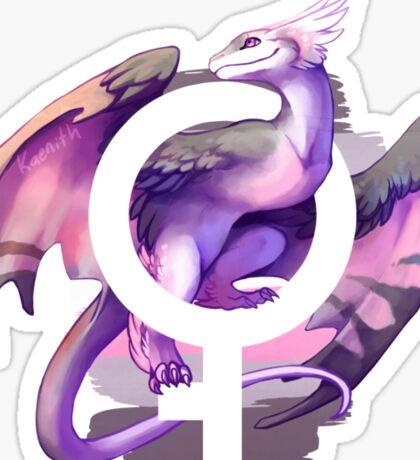 Demigirl Pride Dragon Sticker
