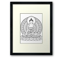 buddha outline Framed Print