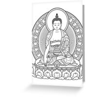 buddha outline Greeting Card