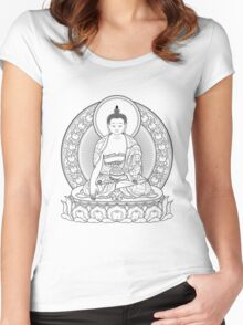 buddha outline Women's Fitted Scoop T-Shirt