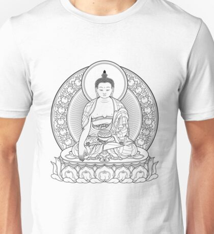 buddha outline Unisex T-Shirt