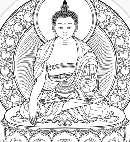 buddha outline Sticker