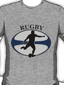 rugby player running kicking ball T-Shirt