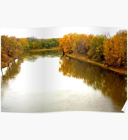 { minnesota river in autumn } Poster