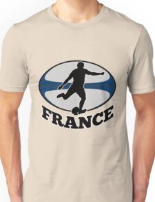 France rugby player running kicking ball Unisex T-Shirt
