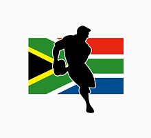 rugby player passing ball south africa flag Unisex T-Shirt