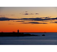 Gloucester Harbor - Ten Pound Island and Dogbar Breakwater Photographic Print