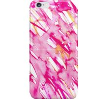 Pink Watercolor Paint Splatter iPhone Case/Skin