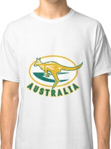 Rugby Wallabies Kangaroo Australia Classic T-Shirt