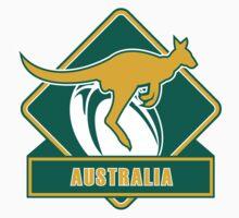 Rugby Wallabies Kangaroo Australia by patrimonio