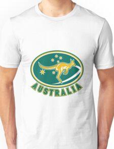 Rugby Wallabies Kangaroo Australia Unisex T-Shirt