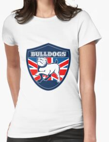 Proud English British Bulldog flag Womens Fitted T-Shirt
