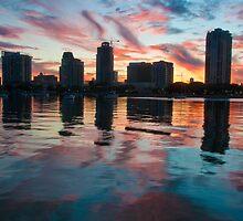 """Saint Petersburg Skyline"" at dusk by John Hartung"