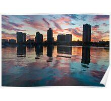 """Saint Petersburg Skyline"" at dusk Poster"