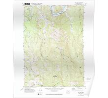 USGS Topo Map Oregon Bill Peak 279039 1971 24000 Poster