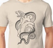 snake with heart tattoo Unisex T-Shirt