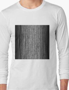 Modern Trendy Black and White Hand Drawn Line Art Long Sleeve T-Shirt