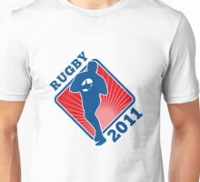rugby player running with ball 2011 Unisex T-Shirt