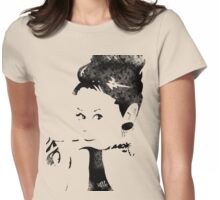 """""""I never think of myself as an icon. What is in other people's minds is not in my mind. I just do my thing."""" -Audrey Hepburn  Womens Fitted T-Shirt"""