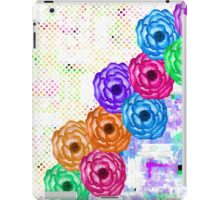 Bright Colorful Summer Watercolor Flowers and Dots iPad Case/Skin