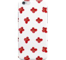 Cute Little Red Watercolor Flower Pattern iPhone Case/Skin